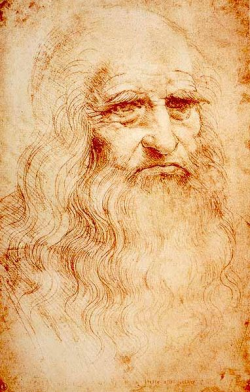Leonardo as an old man (self-portrait)