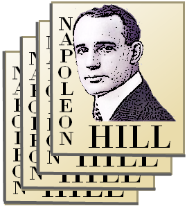 A young Napoleon Hill stamp-like design
