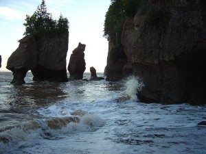 Bay of Fundy and the famous rock formations