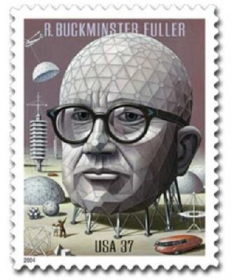 Buckminster Fuller Commemoration Stamp